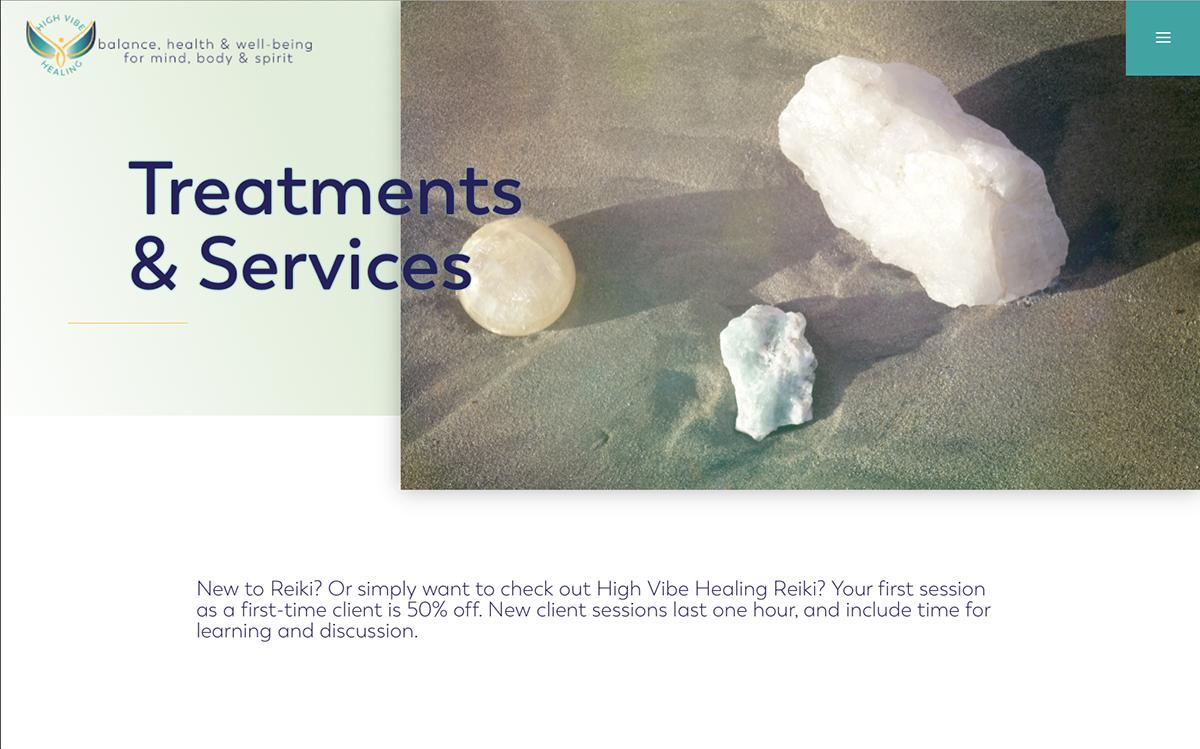 High Vibe Healing Website